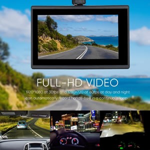Video Quality Dual Dash Cam